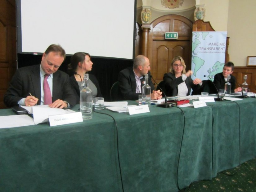 The panel at PWYF event