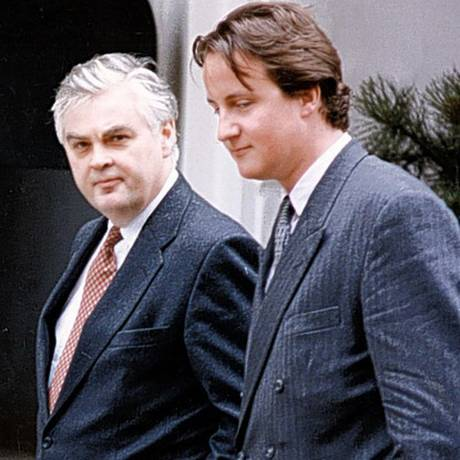 Norman Lamont and his Special Adviser, David Cameron