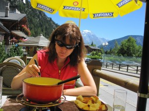 Cheese fondue in Chamonex