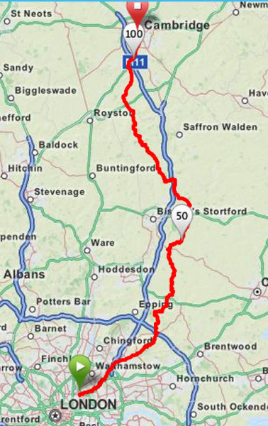 Wags and Fens Route Map
