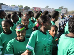 At the start of the Great Ethiopian Run