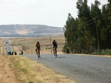 Cycling near Debre Markos