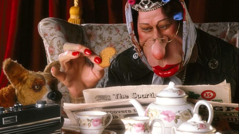 The Queen having tea