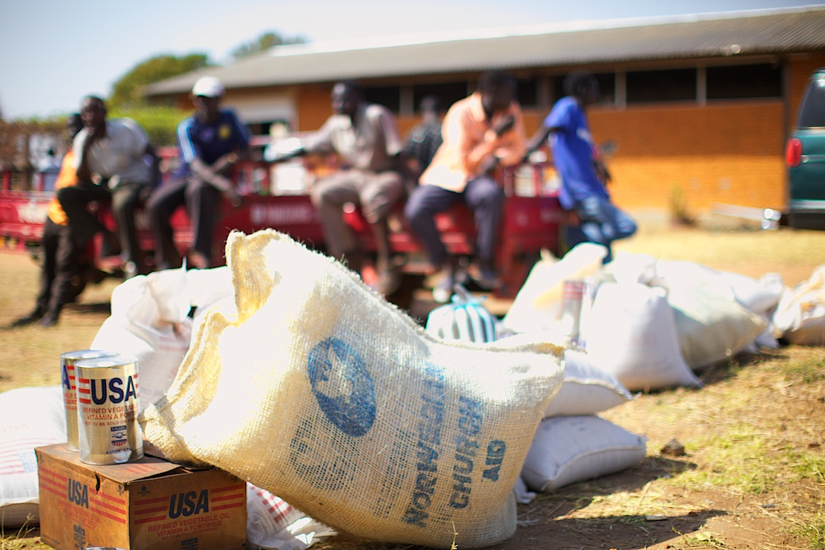 Food aid from USAID and Norwegian Church Aid