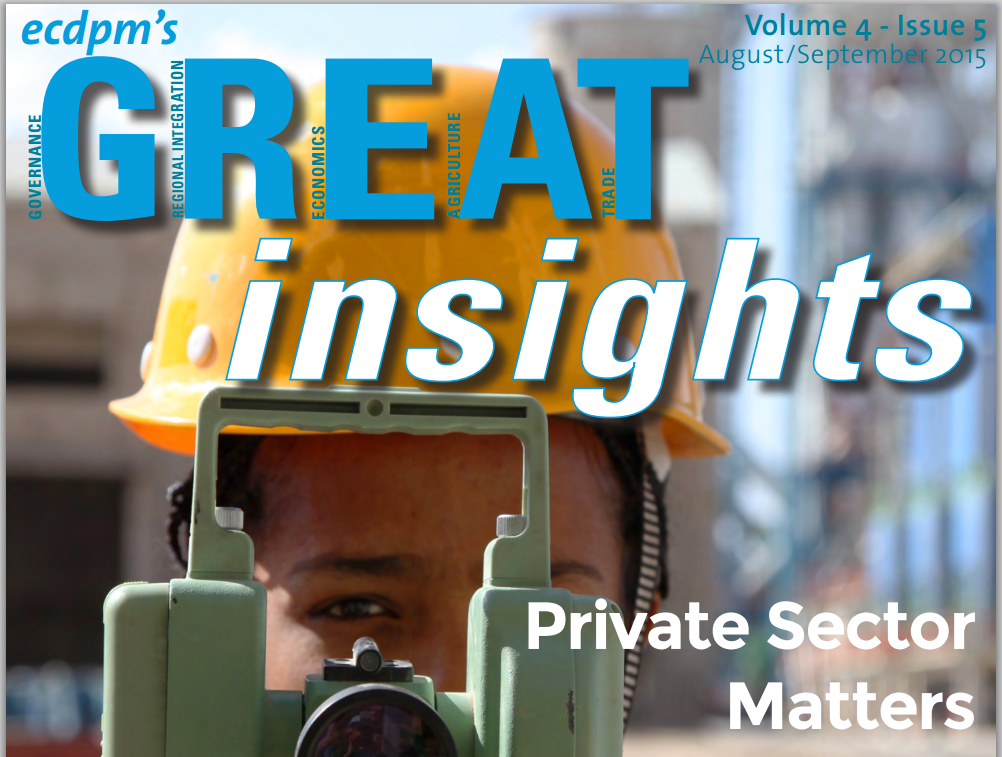 A screenshot of the cover of the magazine, Great Insights, published by ECDPM