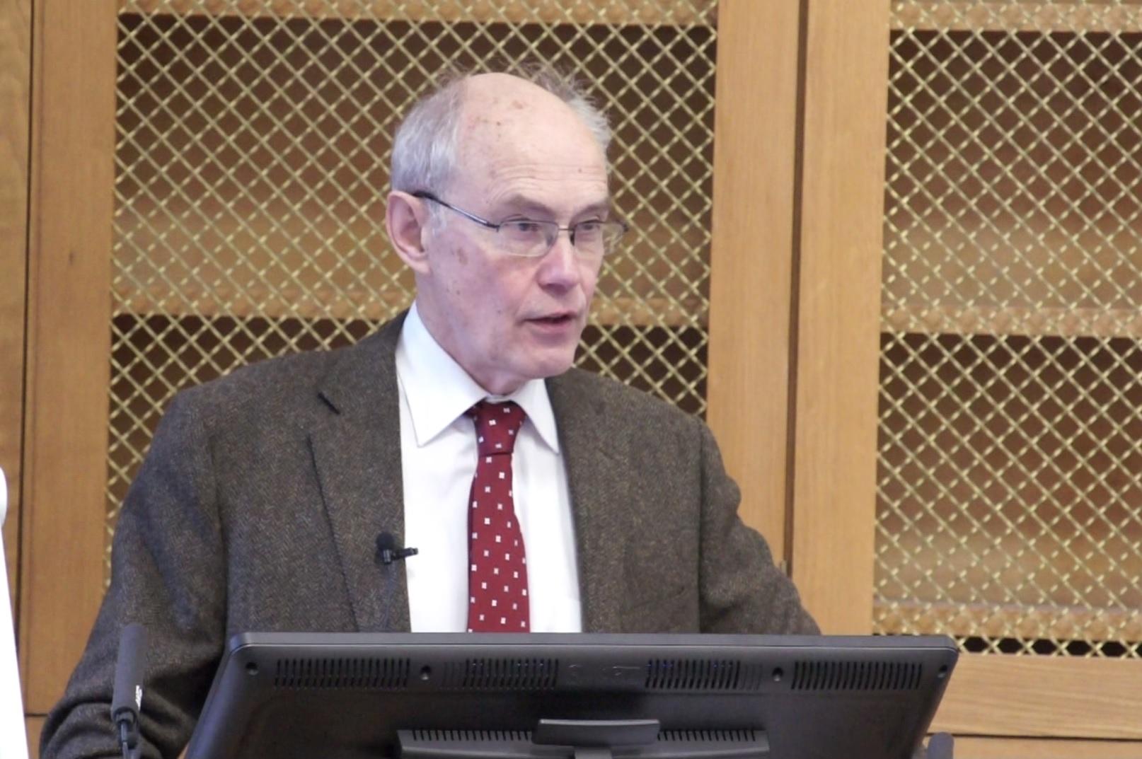 Richard Manning at a lectern