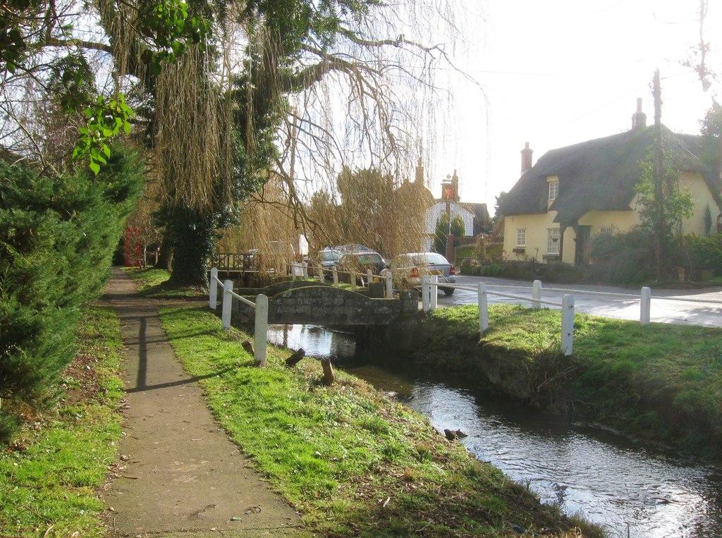 A stream flowing through the village of Arkesden in Essex