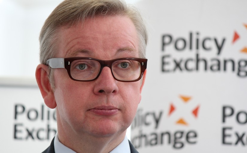 Michael Gove speaking at Policy Exchange