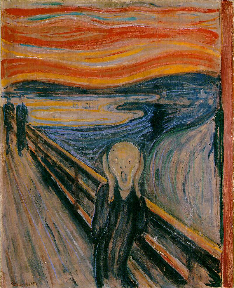 Photograph of the paining The Scream by Edvard Munch