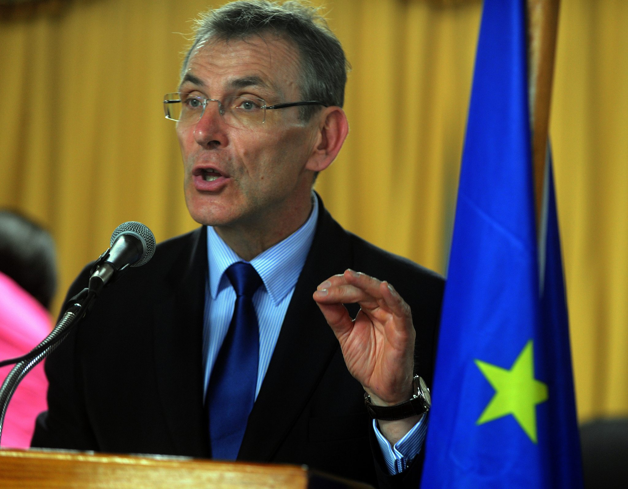Andris Piebalgs, the then EU Commissioner for Development