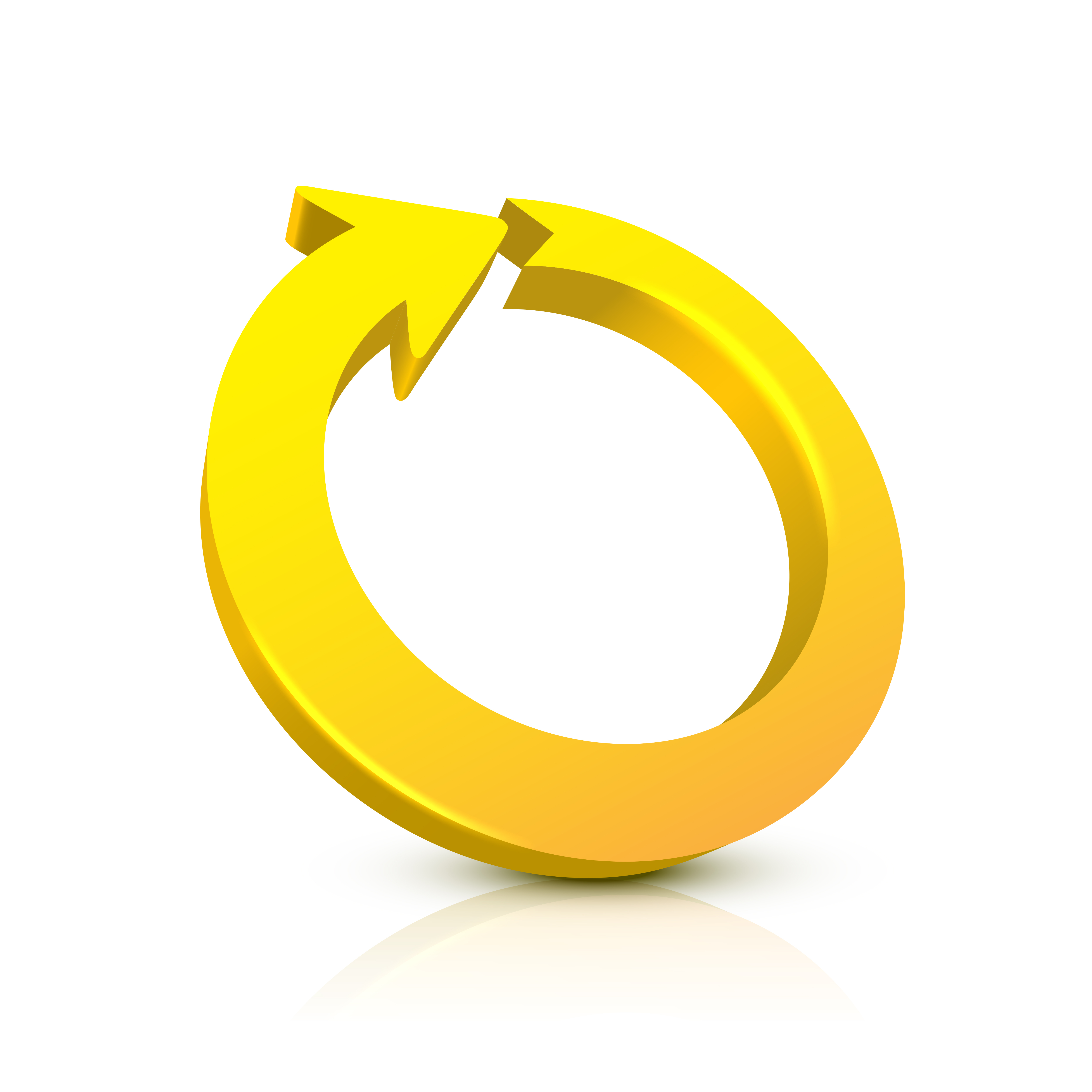 A graphic showing a yellow circle with an arrow