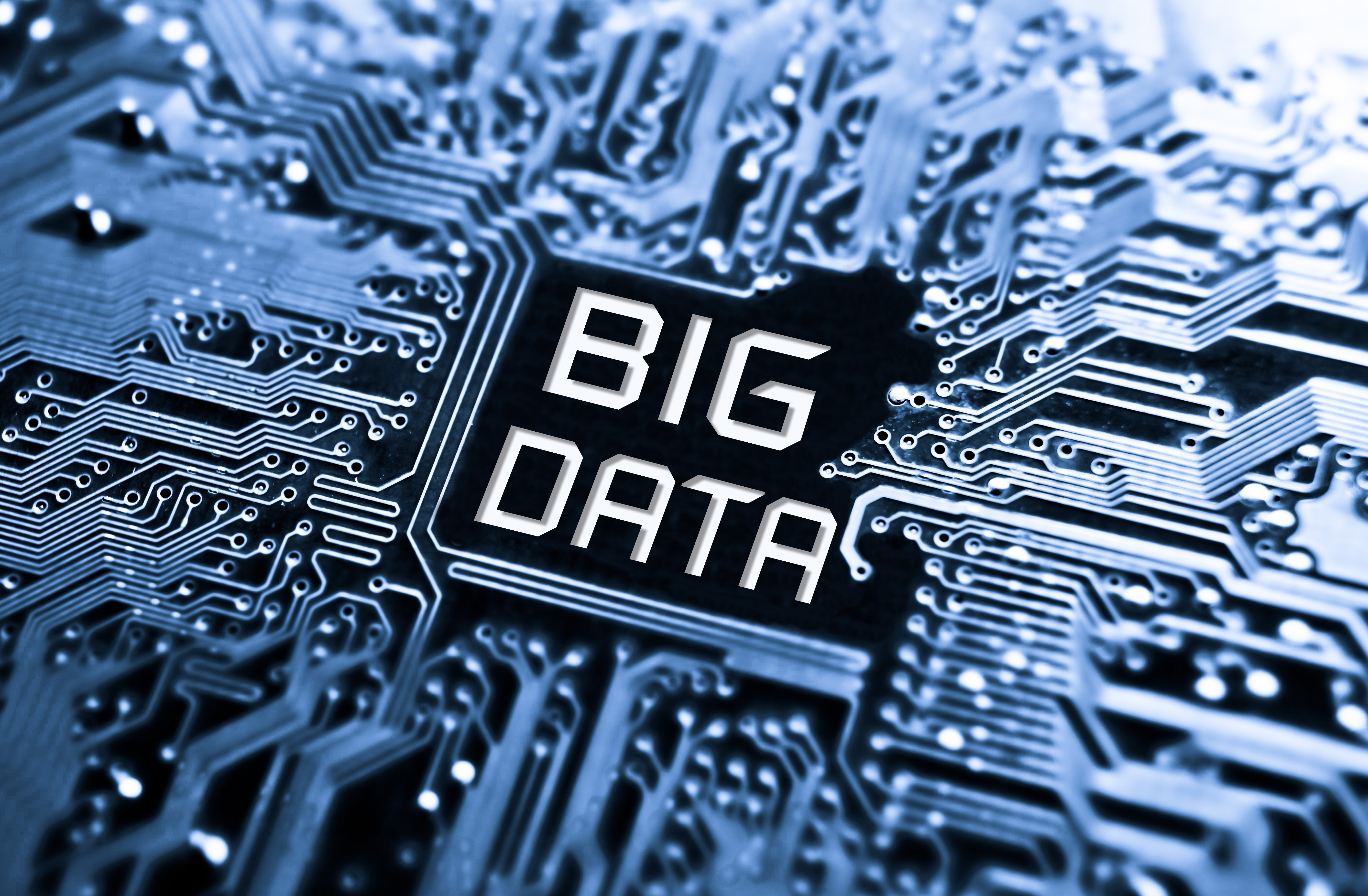 circuit board with word Big Data