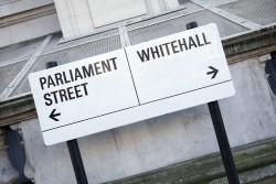 Street sign showing Parliament Street and Whitehall