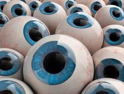 3d rendered eyeballs