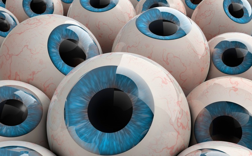 3d rendered eyeballs