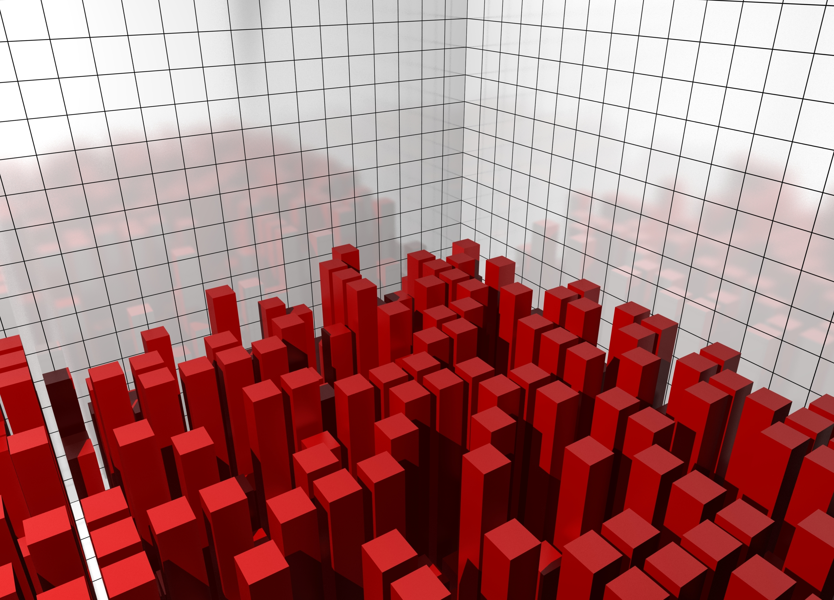 Red rectangles depicting a fitness landscape
