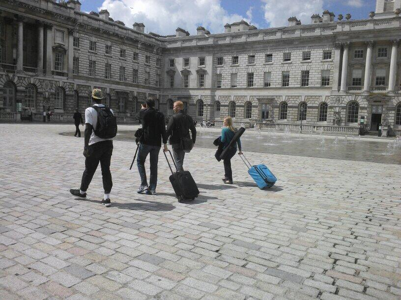 Ali, Theo, Matt and Petra arrive in Somerset House